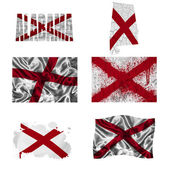 Alabama flagge collage — Stockfoto