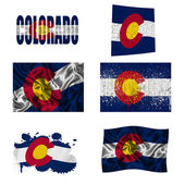 Colorado flag collage — Stock Photo