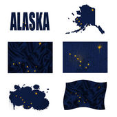Alaska flag collage — Stock Photo
