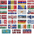 Europe countries flag words Part 1 — Stock Photo #21690149