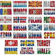 Zdjęcie stockowe: Europe countries flag words Part 2