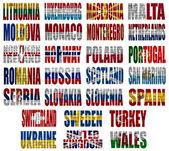 Krajach europy flagi słowa cz.2 — Zdjęcie stockowe