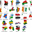 Stock Photo: Africcountries flag maps Part1