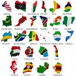 Stock Photo: Africcountries flag maps Part2