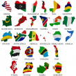 Stockfoto: Africcountries flag maps Part2