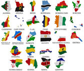 Africa countries flag maps Part1 — Stock Photo