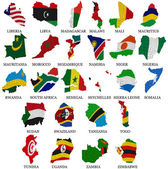 Africa countries flag maps Part2 — Stock Photo