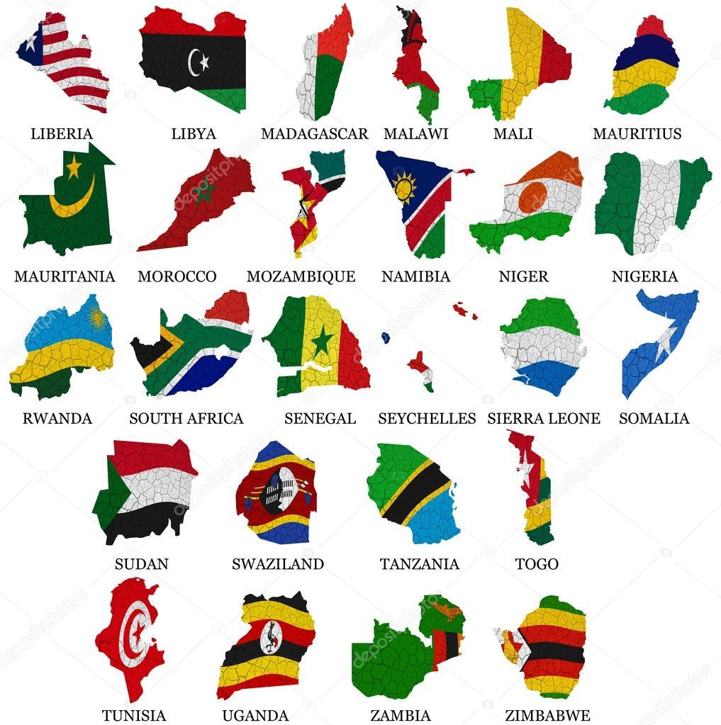 非洲国家国旗地图第 2 部分 — 图库照片08ruletkka