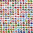 Stock Photo: All World countries flag blots