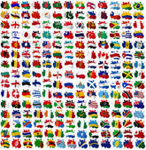 All World countries flag blots — Stock Photo