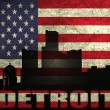 View of Detroit City - Stock Photo