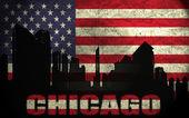 Weergave van chicago stad — Stockfoto