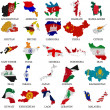 Stock Photo: Asicountries flag maps Part 1