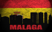 Malaga görünümü — Stok fotoğraf