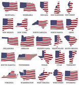 American States From M to W — Foto de Stock