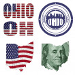 Ohio state collage — Stock Photo