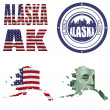 Alaska state collage — Stock Photo