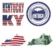 Kentucky state collage — Stock Photo
