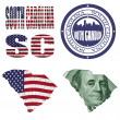 South Carolina state collage — Stock Photo