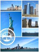 Visa i new york city — Stockfoto