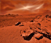 Fantastic martian landscape — Stock Photo