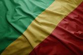 Flag of Republic of Congo — Stock Photo