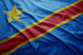 Flag of Democratic Republic of Congo — Stock Photo