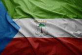 Flag of Equatorial Guinea — Stock Photo