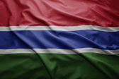 Flag of Gambia — Stock Photo