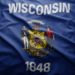 Flag of Wisconsin state — Stock Photo #32613977