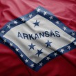 Flag of Arkansas state — Stock Photo
