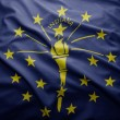 Flag of Indiana state — Stock Photo