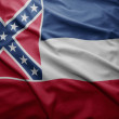 Flag of Mississippi state — Stock Photo