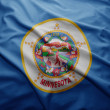Flag of Minnesota state — Stock Photo