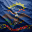 Flag of North Dakota state — Stockfoto