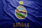 Flag of Kansas state — Stock Photo