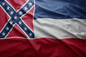 Flag of Mississippi state — Stock Photo