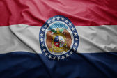 Flag of Missouri state — Stock Photo