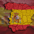Spanish Map — Stock Photo