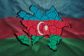 Azerbaijani Map — Stock Photo