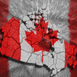 Stock Photo: Canadian Map