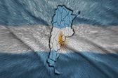 Argentinský mapa — Stock fotografie