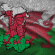 Welsh Map — Stock Photo