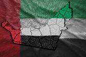 United Arab Emirates Map — Stock Photo