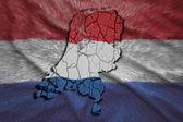 荷兰地图 — 图库照片