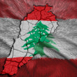 Lebanese Map — Stock Photo
