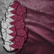 Qatar Map — Stock Photo