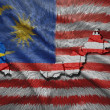 Malaysian Map — Stock Photo