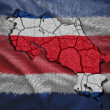 Costa Rican Map — Stock Photo