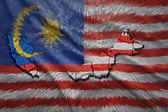Malaysian Map — Stock Photo
